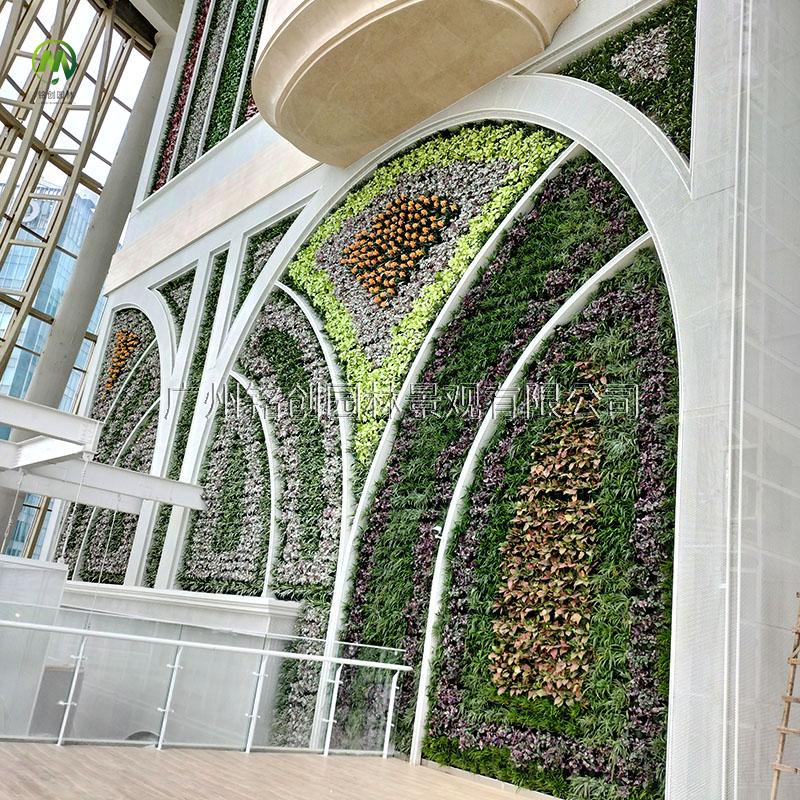 高度置地冬广场仿真植物墙
